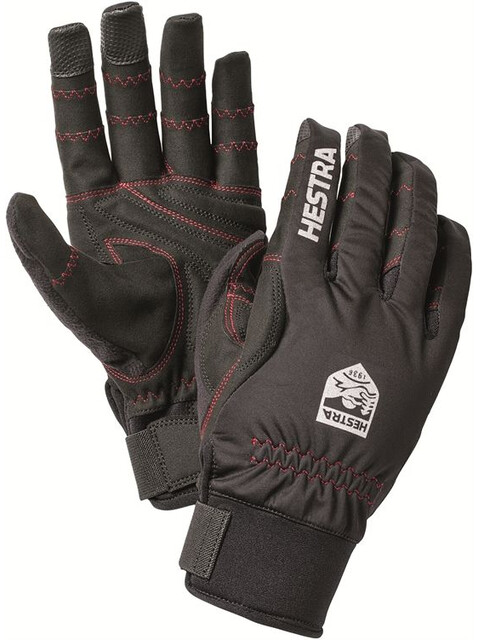 Hestra Ergo Grip Long Finger Gloves svart/svart